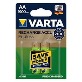 1X2 Varta Recharge Accu Endless 1900 Mah Aa Mignon Nimh