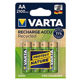 1X4 Varta Recharge Accu Recycled 2100 Mah Aa Mignon Nimh