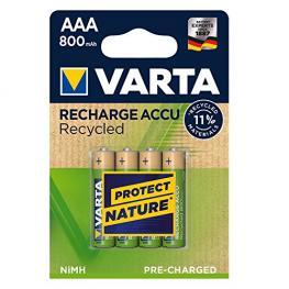 1X4 Varta Recharge Accu Recycled 800 Mah Aaa Micro Nimh
