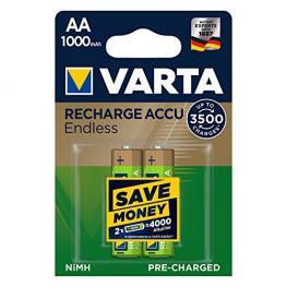 1X2 Varta Recharge Accu Endless 1000 Mah Aa Mignon Nimh