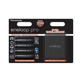 1X4 Panasonic Eneloop Pro Mignon Aa 2500Mah + Caja Para Pilas