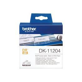 Etiquetas Para Impresora Multiuso Brother Dk11204 17 X 54 Mm Blanco