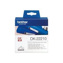 Papel Continuo Para Impresoras Brother Dk22210 29 X 30,48 Mm Blanco