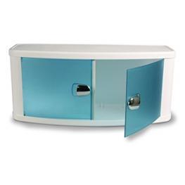 Armario Para Baño Blanco Con Puertas Traslucidas 64X28X23,5 Cm