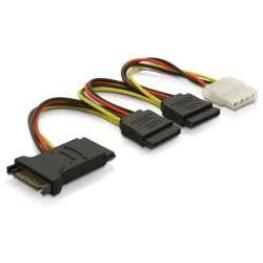 Cable Power Sata 15Pin  3X Sata Hdd+1X 4Pin Ide