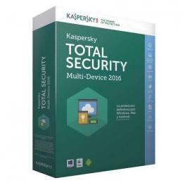 Kaspersky Antivirus 2016  3U Multidispositivo Total Security Formato Caja Dvd