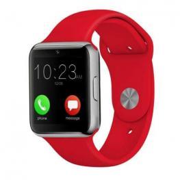 Smartwatch Leotec Pulse Rojo - Pantalla 1.54/3.91Cm Ips Tactil - Pulsometro - Sim 2G - Bt - Camara 0.3Mp - Microfono+Altavoz - Android / Ios