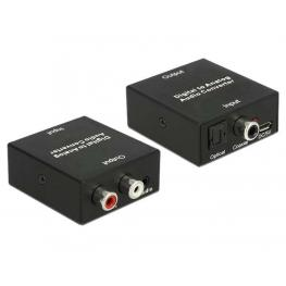 Convertidor de Audio Digital > Analógico Con Conector Estéreo de 3,5 Mm Hembra Con Fuente de Alimentación Usb