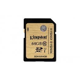 Sdxc Kingston Ultimate - 64 Gb - Class 10/uhs-I - 60 Mb/s Leer - 35 Mb/s Escribir - 1 Tarjeta - 233X Velocidad de Memoria