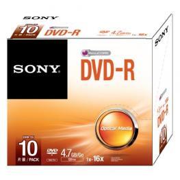 Dvd-R  16X Slim Case  10 Pack  Supl