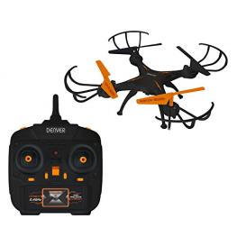 Dron Denver Dch-261 - 4 Canales / 6 Ejes - Funcion Gyro -Camara 0.3Mpx - Video 480P@30Fps - Bateria 380Mah - Mando Control 2.4Ghz