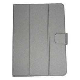 Funda Leotec Left10102G Gris - Tablets de 9.6-10.1/24-25.6Cm - Ajuste Con Gomas Elásticas y Ganchos - Cierre Magnético - Cinta Elástica