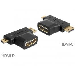 Adapter Hdmi-A Female  Hdmi-C + Hdmi-D Male