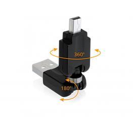 Adapter Usb 2.0-A St  Mini Usb St Rotation Delock