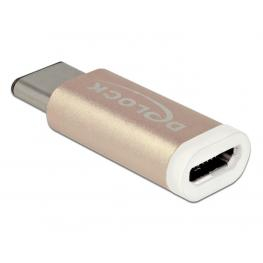 Adapter Usb Type-C™ St (Host)  Usb Micro B Buchse (Device) Gold Delock