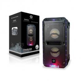 Altavoz Conceptronic Bluetooth Dario 30W Reproduce Mp3 Desde Usb/microsd Radio Fm  Luces Led Mando A Distancia