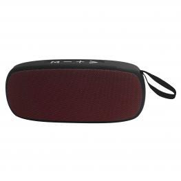 Altavoz Portatil Bluetooth (Negro Rojo)