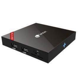 Android Tv Box Leotec Show Letvbox07 - 4K - Qc 2Ghz - 8Gb - 1Gb Ram - Hdmi - Lan - Wifi - Micro Sd - Android 7.1.2 - Mando A Distancia