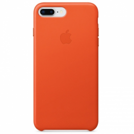 Apple Funda Iphone 8 Plus / 7 Plus Leather Case - Naranja Intenso - Mrgc2Zm/a