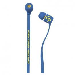 Auriculares Intrauditivos Urban Revolt Duga - Micrófono Integrado - Botón Llamadas -  Cable Plano Anti Enredos - Azul Marino