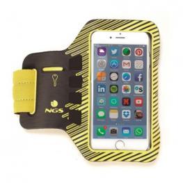 Brazalete Deportivo Ngs Sprintter  - Compatible Con Smartphones de 5 (12.7Cm) - Color  Negro Amarillo