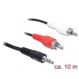 Cable Audio Jack 3.5 Mm Stereo Macho  2 X Rca Macho 10 Mt (A-85/10)
