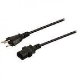 Cable de Alimentación Con Enchufe Suizo Macho - Iec-320-C13 de 10.00 M En Color Negro