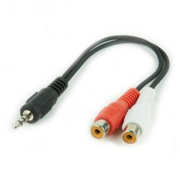 Cable de Audio Estéreo 3.5Mm A 2 X Rca, 0.2 M