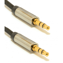 Cable de Audio Estéreo de 3,5 Mm, 0,75 M