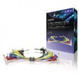 Cable de Audio Mono Macho de 6,35 Mm - Macho de 6,35 Mm de 0,30 M Gris Oscuro (6 Unidades)