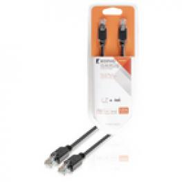 Cable de Red Utp Cat5E de Rj45 Macho A Macho de 5,00 M En Gris