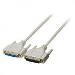Cable Serie D-Sub de 25 Pines Macho - D-Sub de 25 Pines Hembra de 5,00 M Marfil