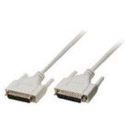 Cable Serie D-Sub de 25 Pines Macho - D-Sub de 25 Pines Macho de 3,00 M Marfil
