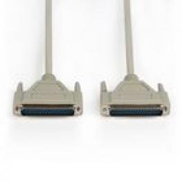 Cable Serie D-Sub de 37 Pines Macho - D-Sub de 37 Pines Macho de 1,00 M Marfil