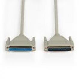 Cable Serie D-Sub de 37 Pines Macho - D-Sub de 37 Pines Hembra de 1,00 M Marfil
