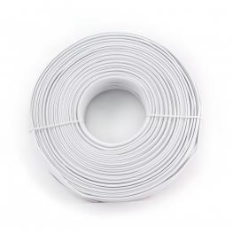 Cable Telefonico de 4 Vias Blanco, Rollo de 100 Metros
