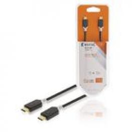 Cable Usb 2.0 C Macho - C Macho de 1,00 M En Color Negro