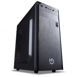Caja Semitorre Hiditec Klyp Color Negro 1Xusb3.0 2Xusb2.0 Bracket Para 2Ssd Gestion Cableado Con Fuente de 500W