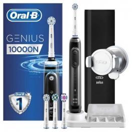 Cepillo Dental Braun Oral-B Genius 10000N Negro - 6 Modos de Cepillado - Detección de Posición - Batería Iones de Litio