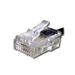 Conector Telefónico  6P4C Rj11 Bolsa 100Un. (Ta-122)