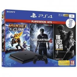 Consola Sony Playstation 4 Slim 1Tb + Ratchet + Last Of Us + Uncharted 4