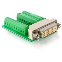 Delock Adapter Dvi 24 Female  Terminal Block 27Pin