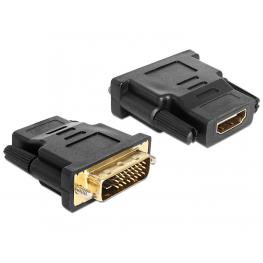 Delock Adapter Dvi 24+1 Pin Male  Hdmi Female