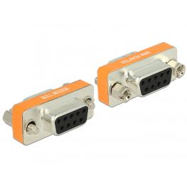Delock Adapter Null Modem Sub-D 9 Pin Female  Female Gender Changer