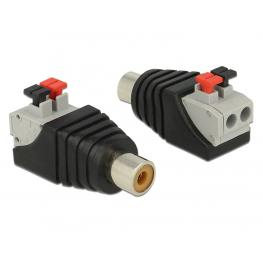 Delock Adapter Rca Female  Terminal Block With Push Button 2 Pin
