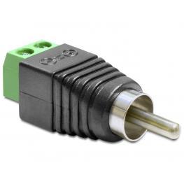 Delock Adapter Rca Male  Terminal Block 2 Pin
