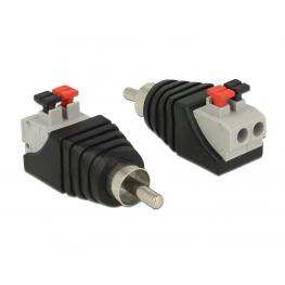 Delock Adapter Rca Male  Terminal Block With Push Button 2 Pin