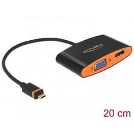 Delock Adapter Slimport / Mydp Male  Hdmi / Vga Female + Micro Usb Female