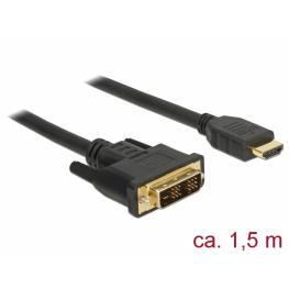 Delock Cable Dvi 18+1 Macho  Hdmi-A Macho de 1,5 M Negro