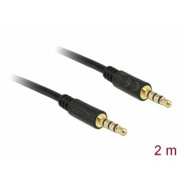 Delock Cable Stereo Jack 3.5 Mm 4 Pin Male  Male 2 M